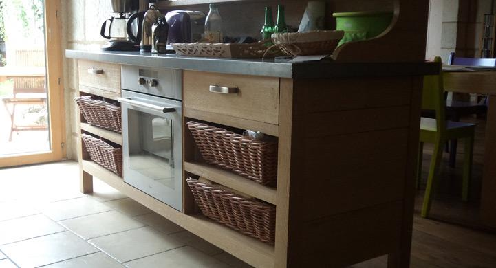 Atelier du bois votre cuisine sur mesure saumur for Plan de travail cuisine en zinc